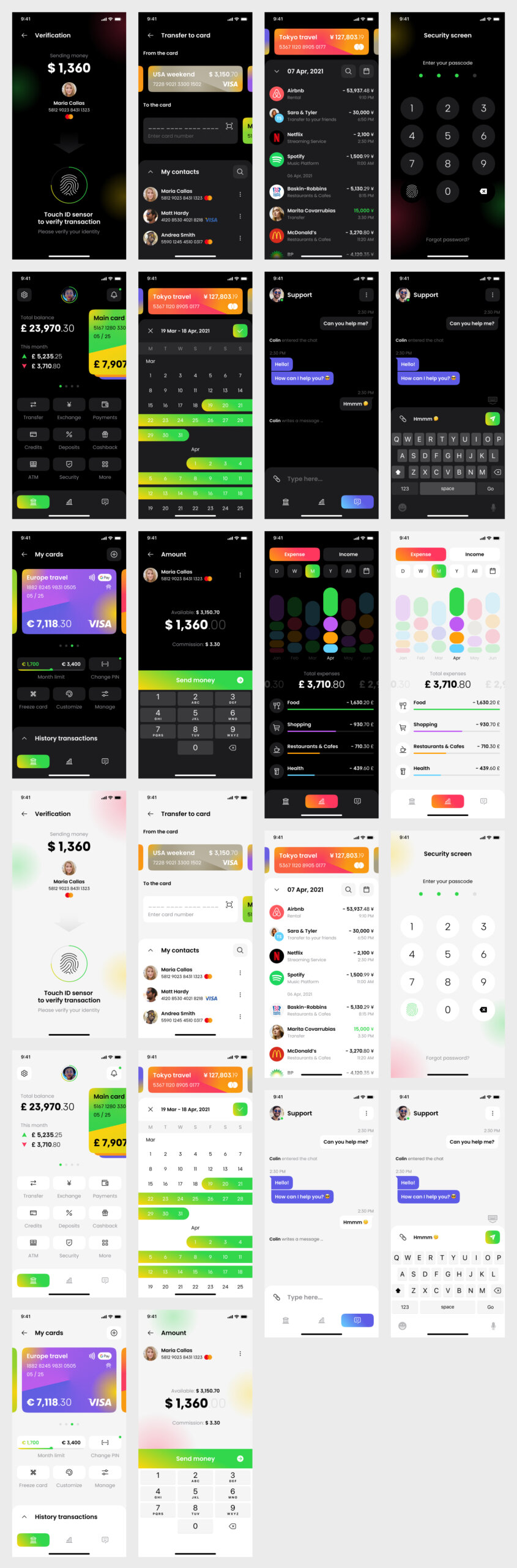 Banking App Free UI Kit for Figma from UIGarage