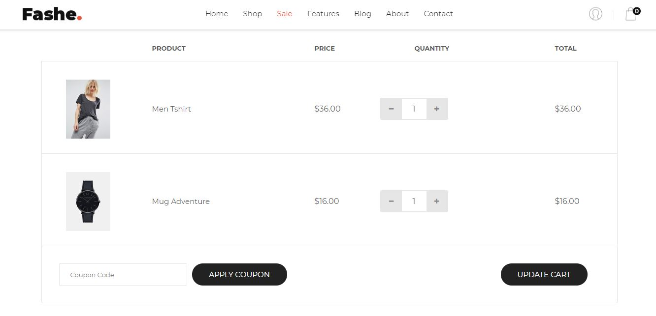 Product Cart on Web by Fashe from UIGarage