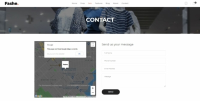 Contact Us on Web by Fashe from UIGarage