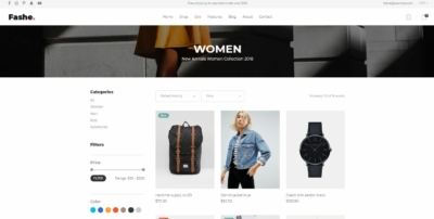 Product List on Web by Fashe from UIGarage