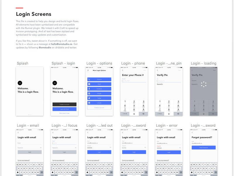 Login Screens UI Kit from UIGarage
