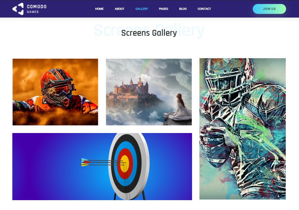 Gallery on Web by Comodo from UIGarage
