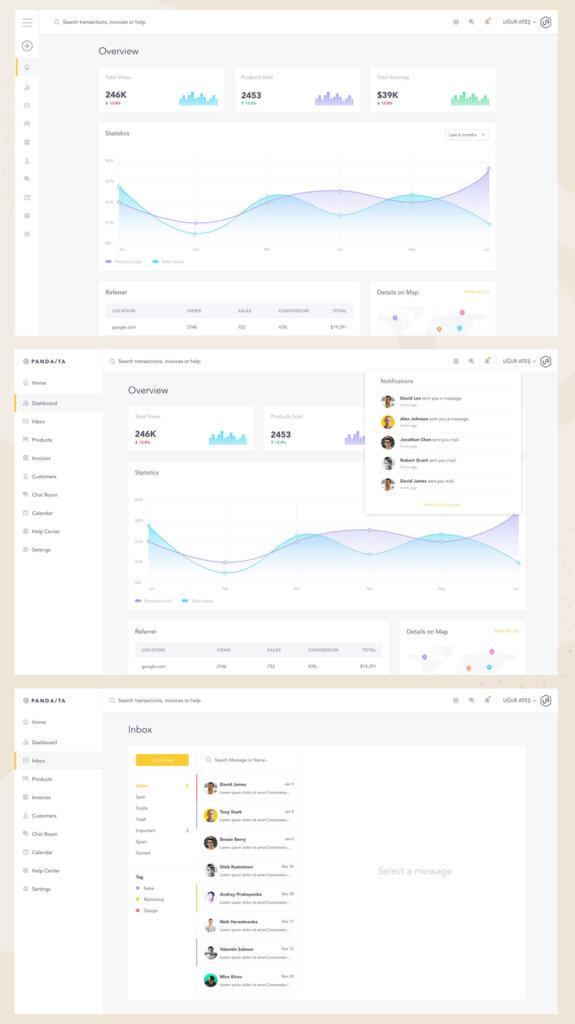 Light Dashboard UI Design from UIGarage