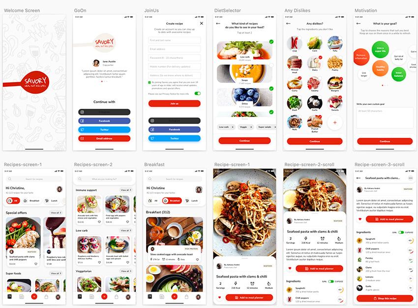 Healthy Food App UI from UIGarage