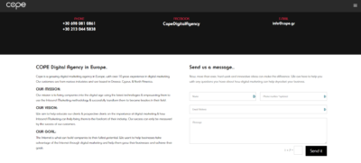 Contact Us on Web by Cope from UIGarage