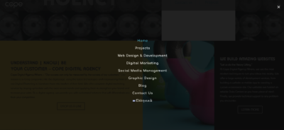 Menu on Web by Cope from UIGarage