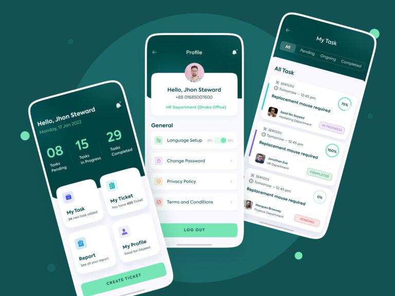 HR Task Manager - Mobile App Design from UIGarage