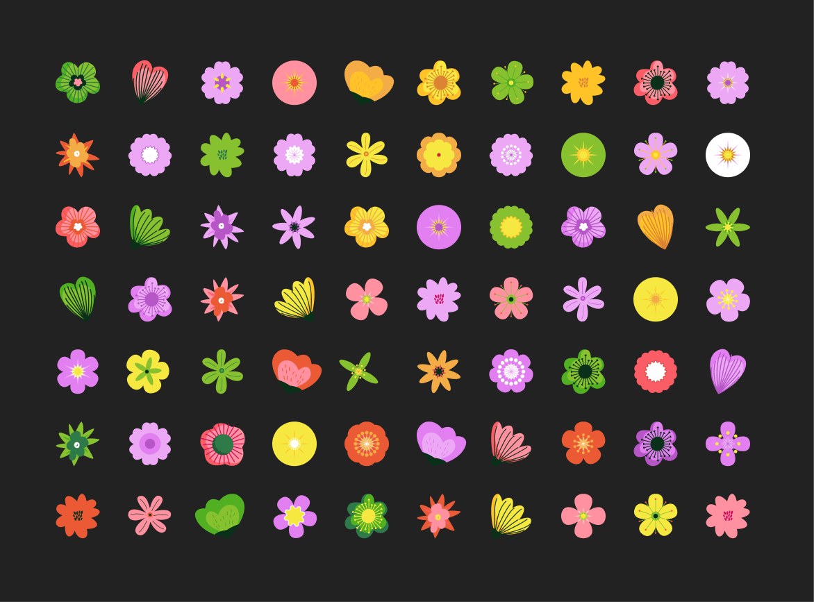 Flower Patterns Free Illustration for Figma from UIGarage