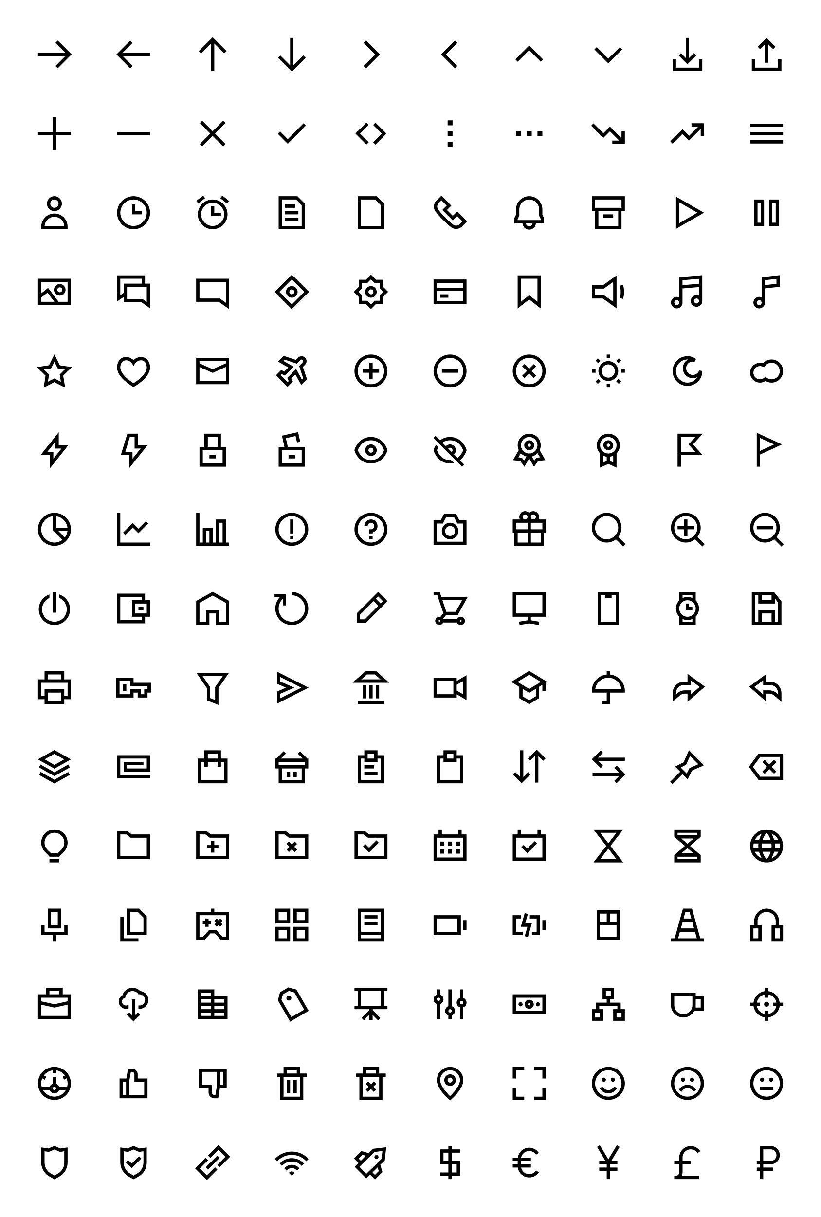 Free Edge Icons from UIGarage