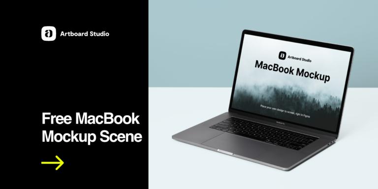 Free MacBook Mockup Scene from UIGarage