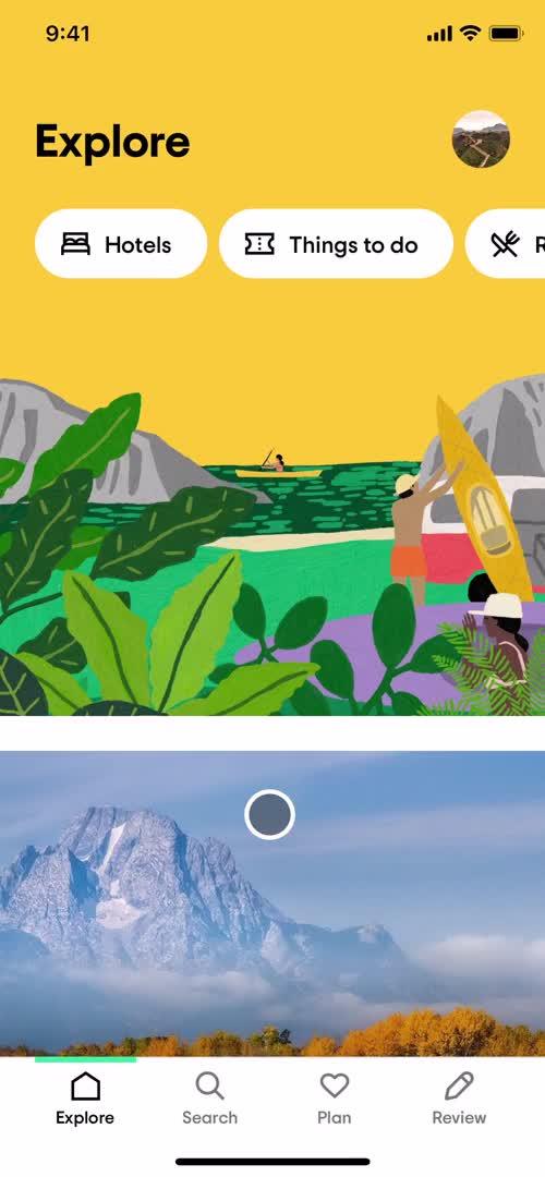 Explore on iOS by Tripadvisor from UIGarage