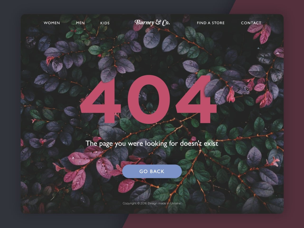 A beautiful 404 page for web from UIGarage